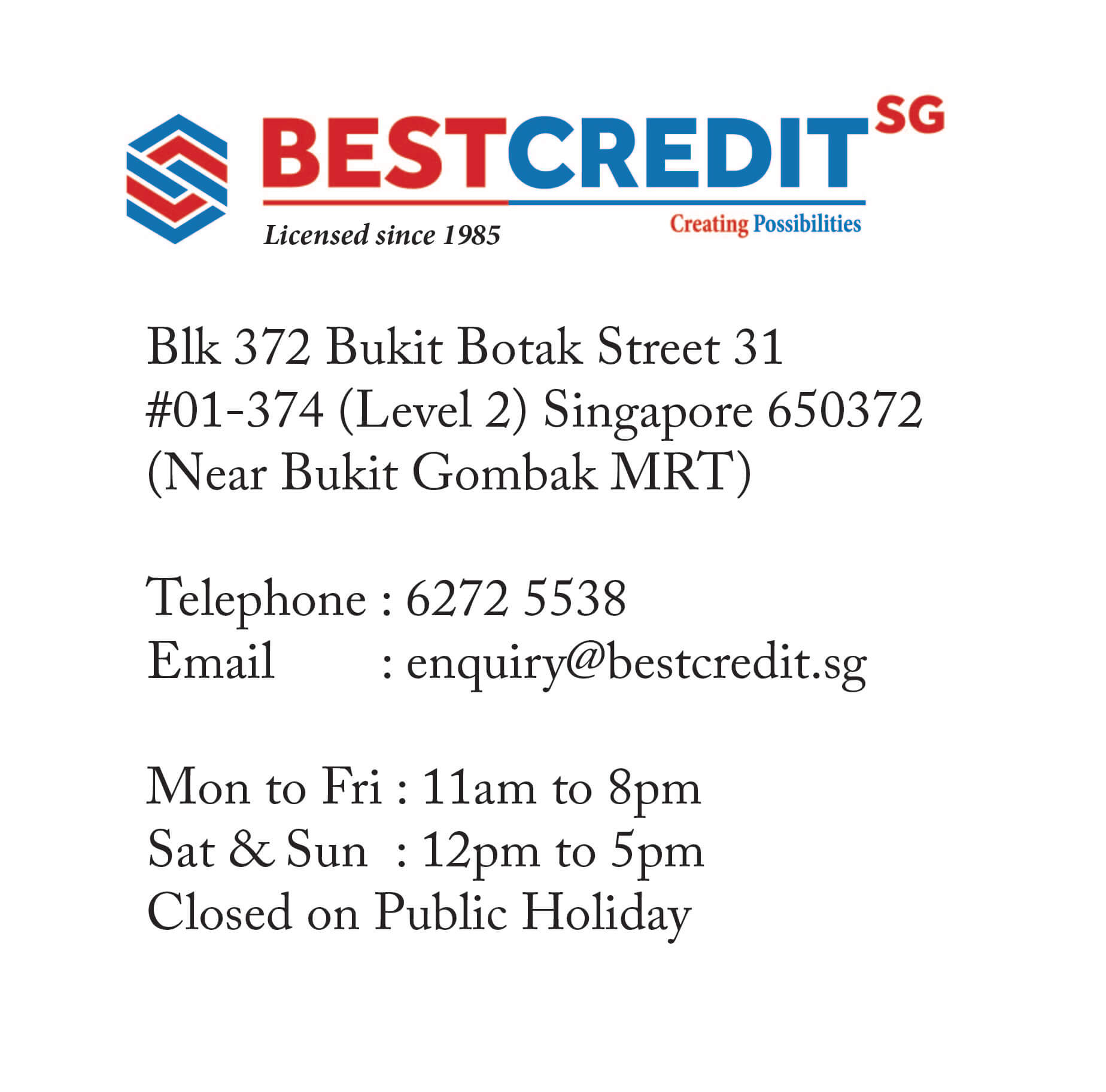 singapore licensed money lender
