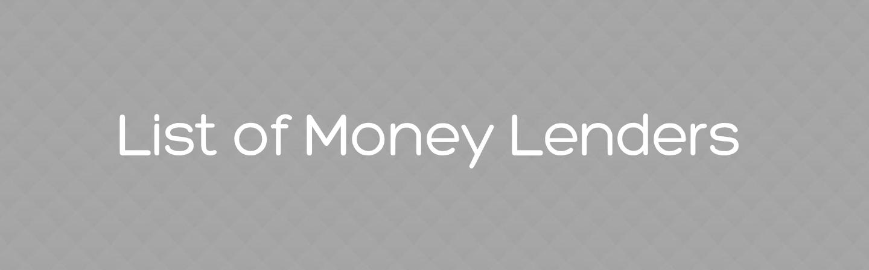List of money lenders